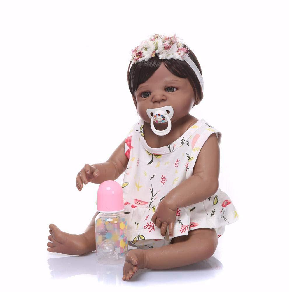 Dubleir Simulazione Bebè per Bambini, Bambola rinata, Bambola in Silicone con Vestiti per Bambini, Ciuccio realistica Cute Baby Doll Reborn, Set Regalo Baby Completo