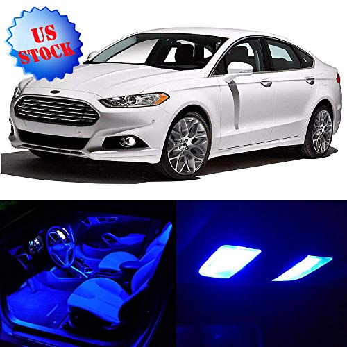 - cciyu 7 Pcs Blue LED Package Kit LED Interior Lights Accessories Replacement Parts for 2013-2019 Ford Fusion