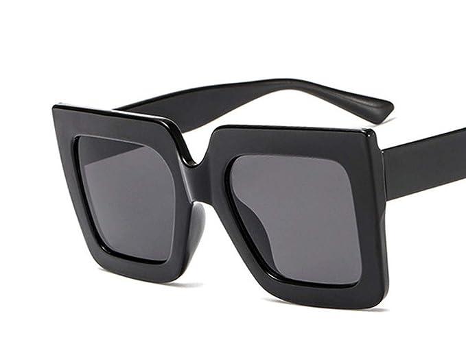 Amazon.com: Gafas de sol cuadradas bicolor con diseño de ...