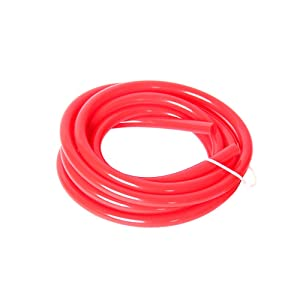 """Hiwowsport High Performance High Temperature Silicone Vacuum Tubing Hose Red Color (3MM(1/8""""))"""