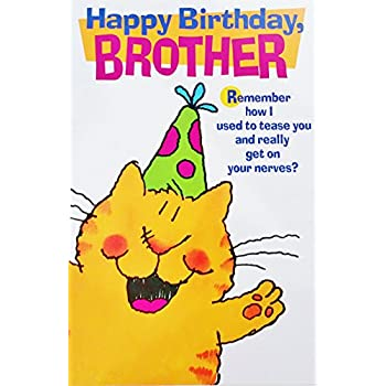 happy birthday brother funny humor greeting card remember how i used to