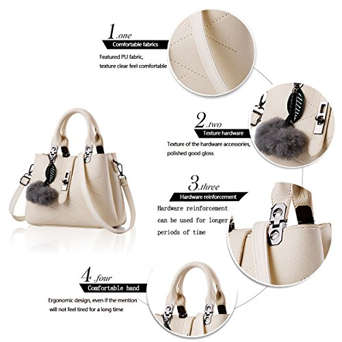 Women Hair Diagonal Ball Handbag Tide Shoulder Beige Wallet Handbags with New Tisdaini Simple Bag YzwWHa5xq