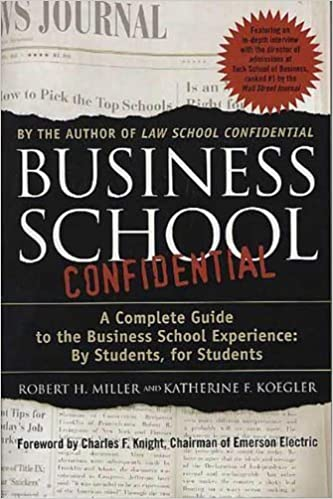 Business School Confidential A Complete Guide to the Business School Experience By Students, for Students by Koegler, Katherine F., Miller, Robert H., Miller, Robert, Lo [St. Martins Griffin,2003] [Paperback]
