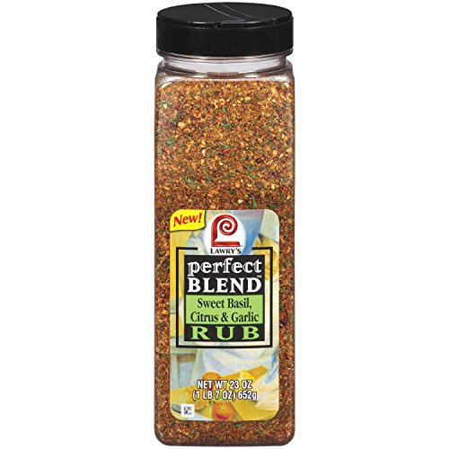 Lawry's Perfect Blend - Sweet Basil, Citrus & Garlic Rub - 23 oz.