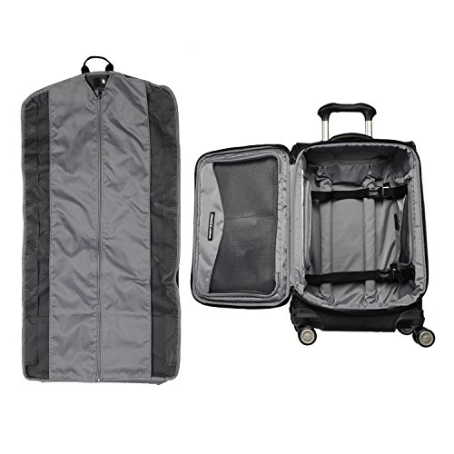 "Travelpro Luggage Crew 11 21"" Carry-on Expandable Spinner w/Suiter and USB Port, Black"