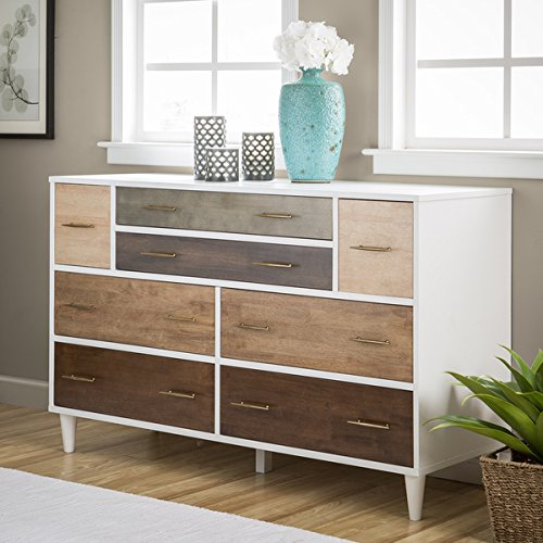 Le Grand 6 Drawer Dresser In Antique White: Amazon.com: 8-Drawer Mid-Century Style Christian Rubber