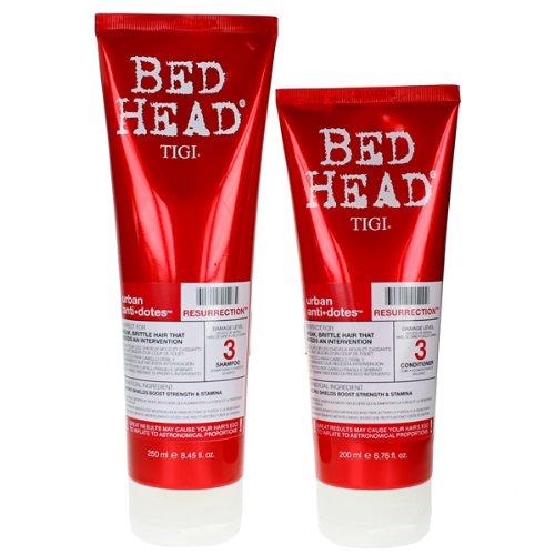 TIGI Bed Head Resurrection Shampoo 8.45oz and Conditoner 6.76oz, DUO