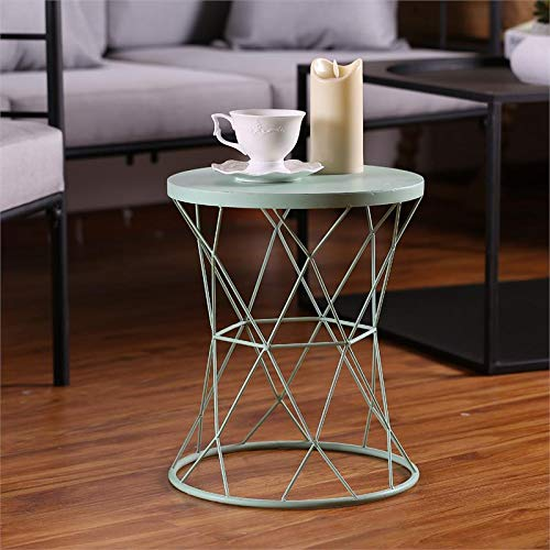 Winsome House Indoor/Outdoor Turquoise Table and Plant Stand, 15.9