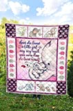 Elephant and She Loved A Little Girl Quilt Queen