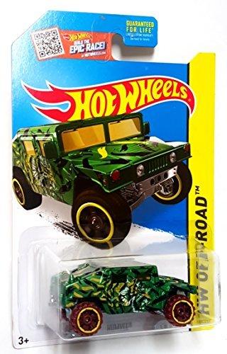 Hot Wheels, 2015 HW Off-Road, Humvee [Green Camoflage] Die-Cast Vehicle (Humvee Military Green)
