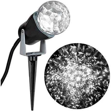 Gemmy 35074 Lightshow Projection-Kaleidoscope White – Indoor and Outdoor- 2 Pack