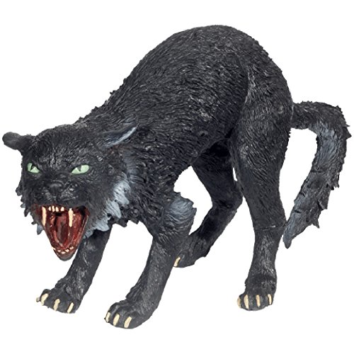 Loftus International Foam Latex Hissing Scary Black Cat Haunted Halloween Prop -
