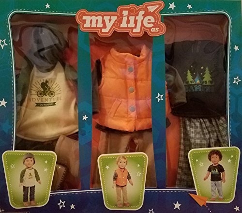 My Life As Day-in-the-Life Outdoor Camping Clothing Set, Boy (Fits 18 inch doll)