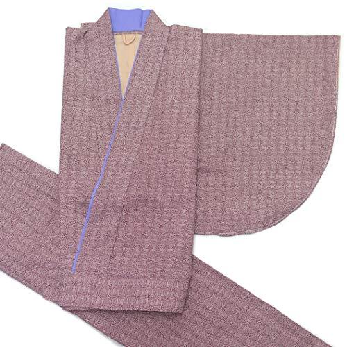 二部式着物 洗える着物 袷 単品 小紋柄の着物 Mサイズ「あずき色」HANM1813