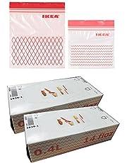 كيس فريزر بلاستيك من ايكيا ISTAD ، أحمر 120 عبوة