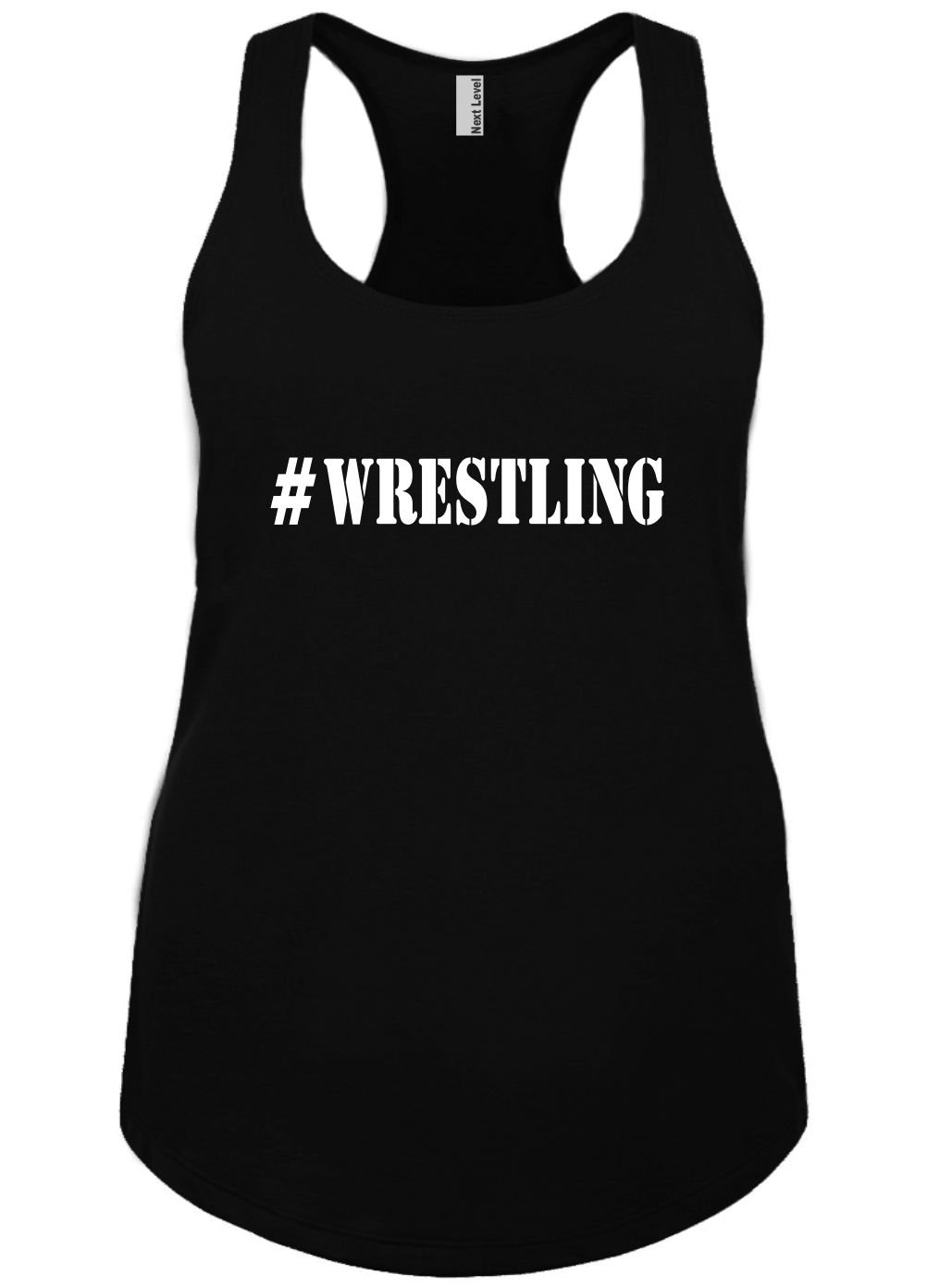 Mighty Ambitious Ladies Funny Tank Top #wrestling (Hashtag) Caps 2X by Mighty Ambitious