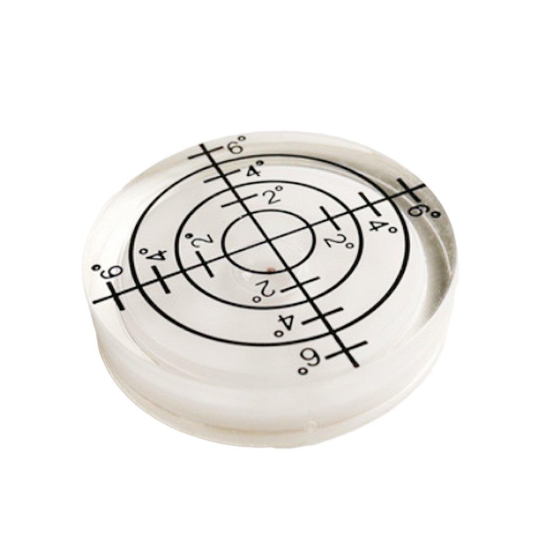 Nivel de burbuja redondo para instrumentos de medició n, 32 x 7 mm, color blanco, blanco Luwu-Store