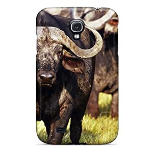 Shock-dirt Proof Animal African Buffalo Case Cover For Galaxy S4