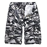 Alimao Clearance Sale Pants Mens Casual Camouflage Outdoors Pocket Beach Work Trouser Cargo Shorts Pant