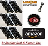 Medium-Strength Threaded Rod with 2H Heavy Hex Nuts, Grade B7 Black-Oxide Coated Alloy Steel, 3/4''-10 Thread Size, 8'' Long (Qty 30 rods & 60 Nuts)