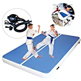 ExGizmo Inflatable Gymnastics Tumbling Mat Waterproof Air Tumbling Track Air Floor Mat for Home Use/Cheerleading/Beach/Park/Picnic/Outdoor