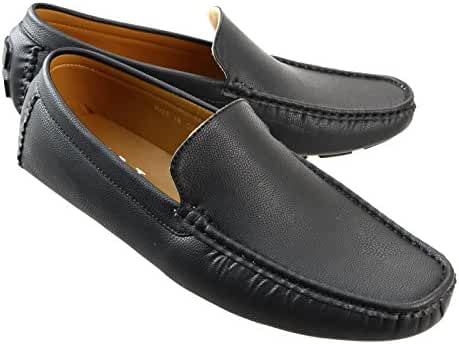 AN by LUCIUS Men's Plain Toe Driving Loafers