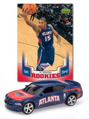 NBA Diecast Dodge Charger Rookie with a Al Horford Trading Card Atlanta Hawks ()