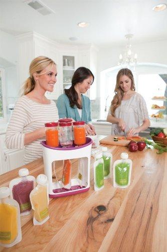 Infantino  DIY Dishwasher Safe Easy to Use Squeeze Station Feeding Kit