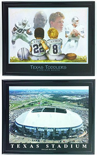 (Football Texas Toddlers Legends with Texas Stadium Framed)
