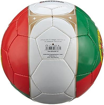 Derbystar 1672500100 - Balón de fútbol Portugal, Verde/Rojo ...