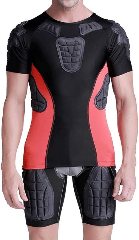 RED SHORE Camisa de compresión Acolchada Hombros en el Pecho, Hombros Costillas y Protector de la Espina Dorsal Protección Deportiva Entrenamiento Seguridad Camisetas para fútbol Paintball, etc.: Amazon.es: Deportes y aire libre