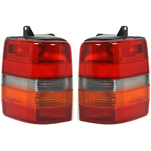 Evan-Fischer EVA15672055390 Tail Light for Jeep Grand Cherokee 93-98 RH and LH Included Lens and Housing Left (98 Jeep Grand Cherokee Wagoneer)