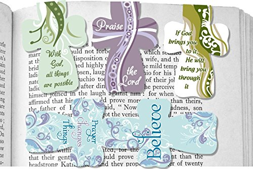 Angelstar 72456 Magnetic Cross, Includes Four Separately Designed Bookmarks with Sayings, 2-1/2-Inch