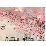 XNNSH Gorgeous Artificial Cherry Blossom Trees Pink