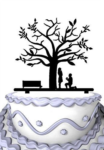 Meijiafei Rustic Proposal Bride and Groom Cherry Blossom Tree Wedding Cake - Wedding Blossom Cherry Cake