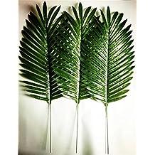 Dect 10Pcs 14 inch Artificial Single Leaf Palm(dark green)