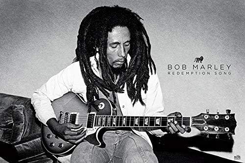 Bob Marley – Redemption Song Póster, Madera, Multicolor: Amazon.es ...