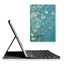 Fintie Blade X1 iPad Air Keyboard Case - Ultra Slim SmartShell Stand Cover with Magnetically Detachable Wireless Bluetooth Keyboard for Apple iPad Air / iPad 5 (5th Generation), Blossom