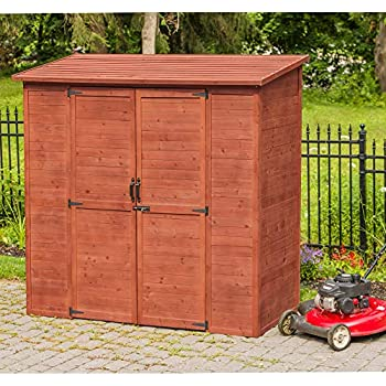 Amazon.com : Leisure Season ELSS2003 Extra Large Outdoor Storage Shed - Brown - Wooden Gardening