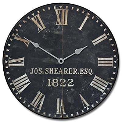 "1822 Old Sheriffs Wall Clock, Available in 8 Sizes, Most Sizes Ship The Next Business Day, Whisper Quiet. - LIFETIME  WARRANTY.  We will replace your mechanism (not the entire clock) for as long as you own it. Mechanisms are tested before mailing, however, if it is damaged in shipping we will mail you a replacement. Some assembly is required to replace the mechanism. Our contact info is on clock back. (The warranty is through us not Amazon). SILENT QUARTZ MECHANISMS! Our clocks are very quiet. No annoying ticking!! Our clocks sit flat against the wall and do not wobble. The mechanisms are as recessed as possible, which makes for a nicely finished product. HANDMADE IN AMERICA BEAUTIFUL **PRINTED** FACE ON SOLID PIECE of 1/2"" MDF WOOD PRODUCT. The face is NOT a sticker. It is printed directly on the wood. Our clocks feel solid because of the thicker mdf wood. Our edges are nicely rounded. It takes us just a few days to make your clock. We are usually much faster than is listed. - wall-clocks, living-room-decor, living-room - 51Xsh7ZtPpL. SS400  -"