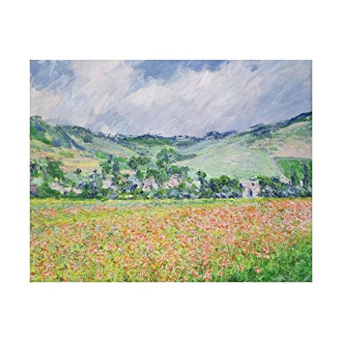 Claude Monet The Poppy Field near Giverny 1885 Canvas Print Wall Art For Home Decoration Wooden Framed 12
