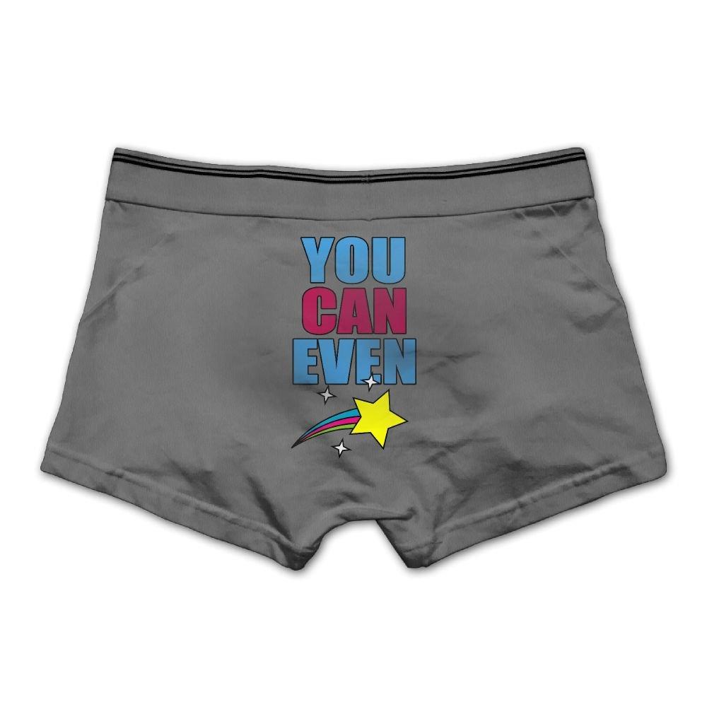 Ngyeyu You Can Even Mens Underwear Cotton Vintage Boxer Briefs Ash