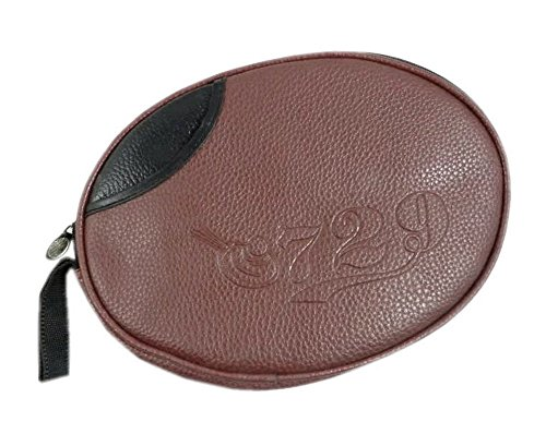 Panda Superstore Brown Leather Table Tennis Cover, Round Racket Bag by Panda Superstore