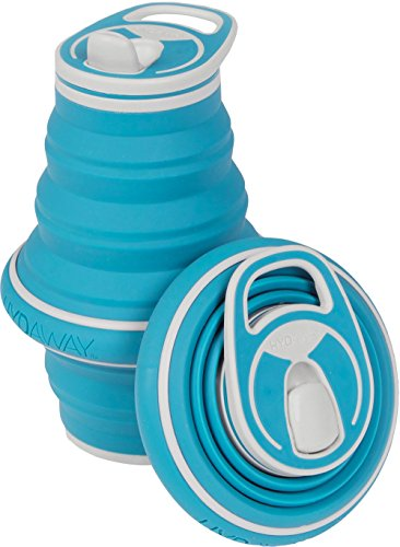 HYDAWAY Collapsible Pocket-sized Travel Water Bottle - 21 oz - Bluebird