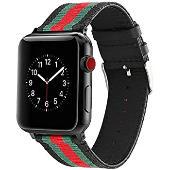 los angeles 5a13f a746a Amazon.com: HUANLONG VE-0001 Apple Watch Band, Nylon with Genuine ...