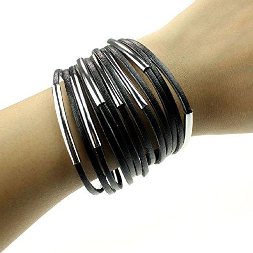 Doinshop Fashion Leather Bracelet Wristband