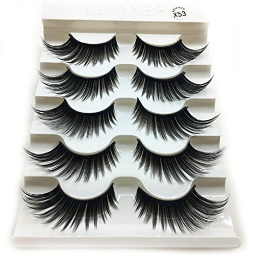1 Box Luxury 3D False Lashes Fluffy Strip Eyelashes Long Natural Party -