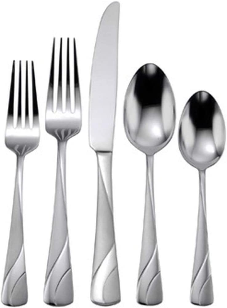 Oneida River 20 Piece Everyday Flatware, Service for 4 18/0 Stainless Steel, Silverware Set