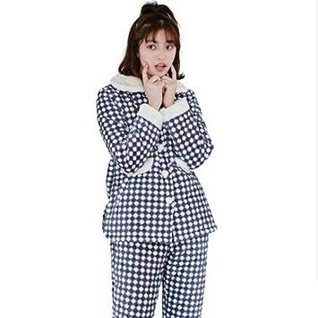 392cf09fe5 Albornoz Nan Liang Pijama de Dos Piezas de otoño e Invierno para Mujer  Acolchado