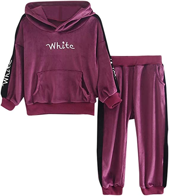 Pants Outfit Set Tracksuit Toddler Kids Baby Girl Boy Clothes Hoodie Warm Tops